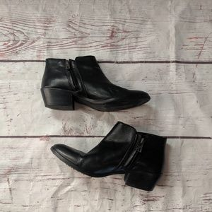 Sam Edelman Black Leather Ankle boots Size 7